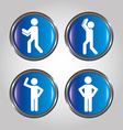 men sign design vector image