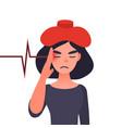 migraine ill or chronic headache concept vector image vector image