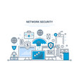 network security data protection payment vector image vector image