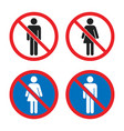 no men and no women signs no entry icons vector image vector image
