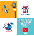 online shopping e-commerce mobile payment and vector image vector image