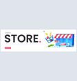 online store landing page great design vector image vector image