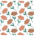pattern with paper tulips vector image
