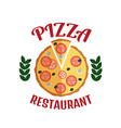 Pizza delivery logo Fast delivery logo Pizza logo vector image vector image