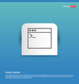 programming code icon - blue sticker button vector image