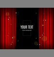 realistic detailed 3d red stage curtains banner vector image vector image