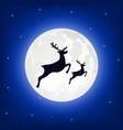 reindeer silhouette vector image vector image