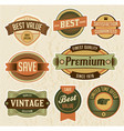retro business labels and badges vector image vector image