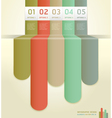 Retro colorful number options banner template vector image