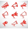 set of megaphone loudspeaker isolated symbolsl and vector image vector image