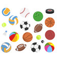 set realistic sport balls for football vector image