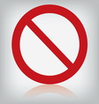 sign forbidden isolated vector image vector image