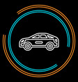 simple car thin line icon vector image
