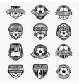 soccer logo badge vector image vector image