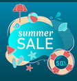 summer super sale underwater poster flyer layout vector image vector image