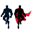 superhero flying silhouette vector image vector image