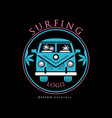 surfing logo design original creative badge can vector image vector image