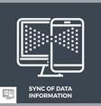 sync data information line icon vector image vector image
