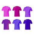 t shirt design template set men shirts blue vector image