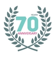 Template Logo 70 Anniversary in Laurel Wreath vector image vector image