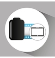 touchpad digital photo roll vector image vector image