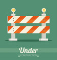 under construction concept in flat design style vector image vector image