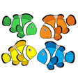 various color clownfishes 1 vector image vector image