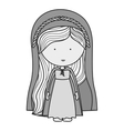 virgin mary design vector image vector image