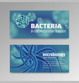 voucher about microbiology and viruses 3d vector image vector image