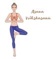 Women silhouette Yoga tree pose Vrikshasana vector image vector image