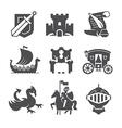 Medieval Symbols Collection vector image