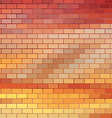 Sundown themed background with brick grid vector image