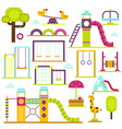children playground kids time vector image