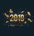 2019 happy new year celebration background design vector image vector image