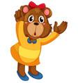 a cute bear character vector image vector image
