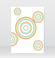 Abstract business brochure circles on a white vector image vector image