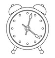 alarm clock icon outline style vector image