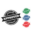 approved grunge style rubber stamps set four vector image