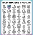 baby hygiene and health vector image vector image