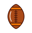 brightly american football ball cartoon vector image vector image