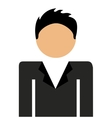 businessman standing isolated icon design vector image vector image