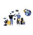 businessmen discuss social network vector image