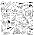 Camping - doodles vector image vector image