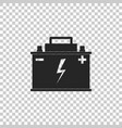 car battery icon on transparent background vector image vector image