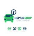 car service repair shop logo element vector image
