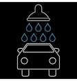 Car Shower Outline Icon vector image