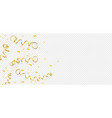 celebration template with serpentine and confetti vector image vector image