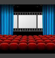 cinema movie retro concept with seats rows film vector image vector image