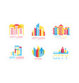 city logo with building and architecture shapes vector image vector image
