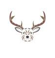 color tribal deer vector image